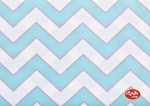 Chevron Haute Aqua by Dena Designs